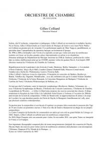 Gilles Colliard soliste