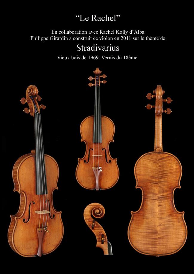 Violon de collection, violon d'exposition, fait en un seul exemplaire par, Philippe Girardin, le Rachel